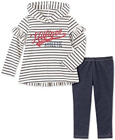 Tommy Hilfiger Toddler Girls 2-Pc. Hooded Top & Denim Leggings Set