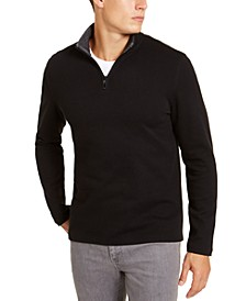 Men's Solid Quarter-Zip Sweater, Created for Macy's