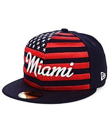 New Era Miami Marlins Retro Big Flag 59FIFTY Cap