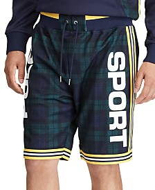 Polo Ralph Lauren Men's Polo Sport Plaid Mesh Athletic Shorts