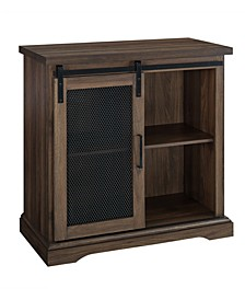 Farmhouse Mesh Door Accent TV Stand