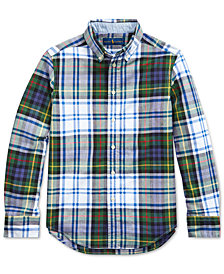 Polo Ralph Lauren Big Boys Madras Plaid Shirt