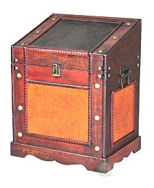 Vintiquewise Old Style Desk Podium Chest Decorative Desktop Lectern