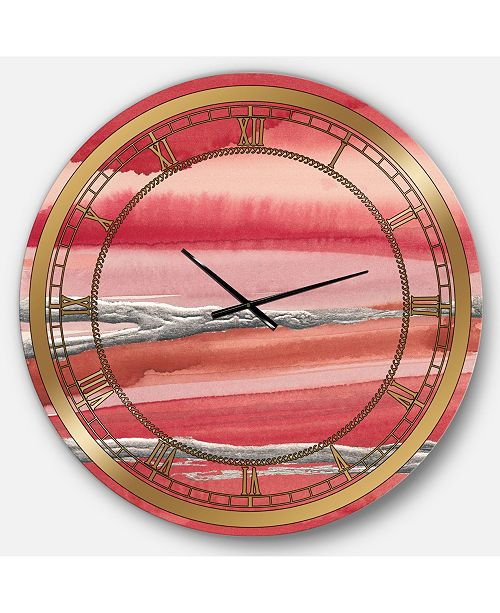 Designart Modern Glam Oversized Metal Wall Clock