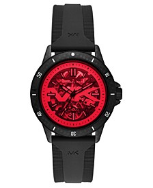 Men's Automatic Bayville Black Silicone Strap Watch 47mm