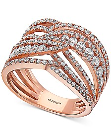 EFFY® Diamond Openwork Statement Ring (1-1/3 ct. t.w.) in 14k Rose Gold