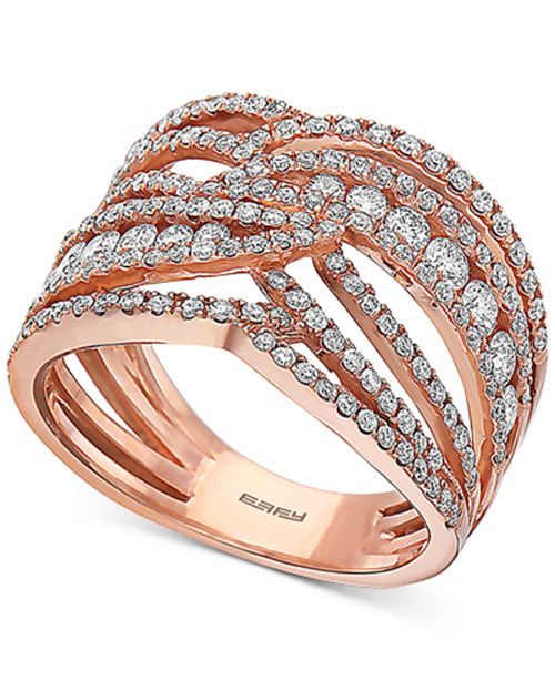 EFFY Collection EFFY® Diamond Openwork Statement Ring (1-1/3 ct. t.w.) in 14k Rose Gold
