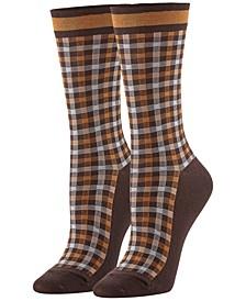 Women's Plaid Check Socks
