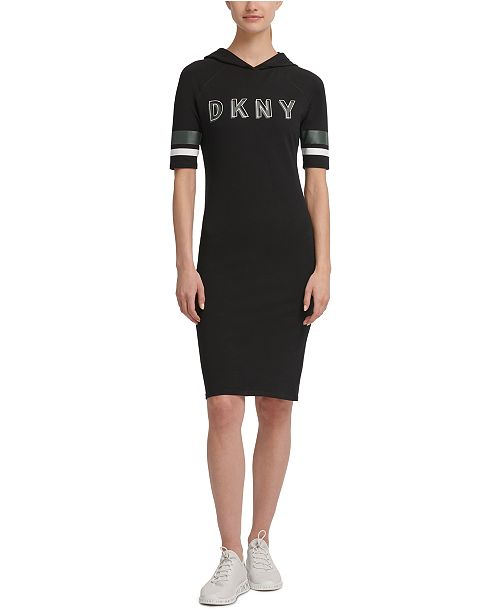 DKNY Sport Logo Hooded Dress