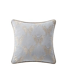 "Baylen 18"" X 18"" Embroidered Square Decorative Pillow"