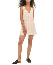 Free People Chloe Embroidered Slip Dress