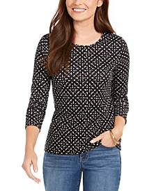 Dot-Print Pima Cotton Top, Created for Macy's