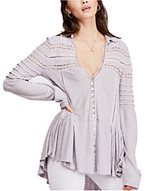 Free People Set To Stun Lace-Inset Top
