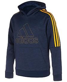 adidas Big Boys 3-Stripe Logo-Print Hoodie