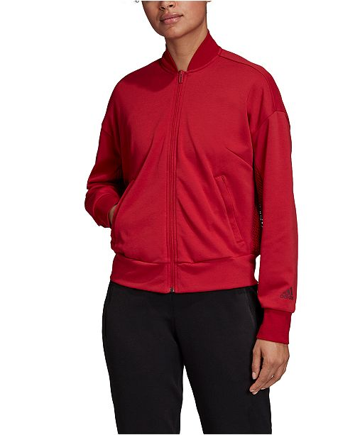 adidas Women's ID Mesh Bomber Jacket & Reviews Women Macy's