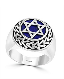 EFFY® Men's Lapis Lazuli (11.5mm) Ring In Sterling Silver