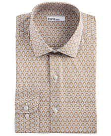 Men's Slim-Fit Stretch Art Deco Floral Dress Shirt, Created for Macy's