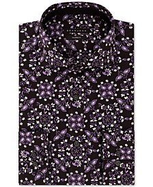 Men's Classic/Regular-Fit Floral-Print Dress Shirt