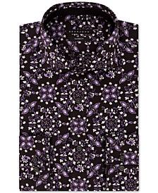 Men's Classic/Regular-Fit Floral-Print Dress Shirt