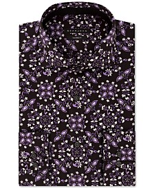 Sean John Men's Classic/Regular-Fit Floral-Print Dress Shirt