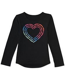 Toddler Girls Heart-Print T-Shirt