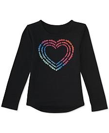 adidas Toddler Girls Heart-Print T-Shirt