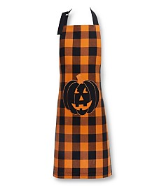 Elrene Farmhouse Living Buffalo Check Pumpkin Pocket Apron