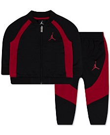 Jordan Baby Boys 2-Pc. Colorblocked Tricot Jacket & Jogger Pants Set