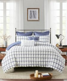 Kinney Full/Queen 7-Pc. Yarn Dye Polyester Seersucker Comforter Set
