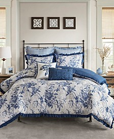 Abigail Full/Queen 7-Pc. Cotton Printed Ruffle Comforter Set