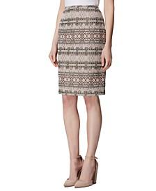 Bouclé A-Line Skirt