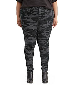 Trendy Plus Size  High-Rise Printed Skinny Pants