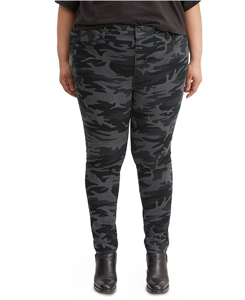 Levi's 721 Trendy Plus Size  High-Rise Printed Skinny Jeans