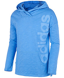 adidas Big Girls Logo-Print Cotton Hoodie