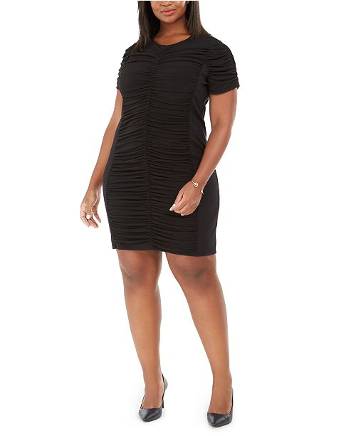 Michael Kors Plus Size Ruched Sheath Dress & Reviews ...