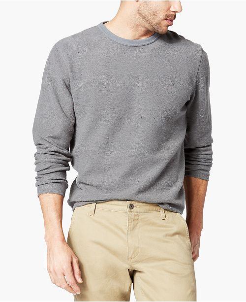 Dockers Men's Alpha Reverse Terry Crewneck Sweater