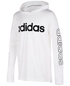 adidas Big Boys Logo-Print Cotton Hoodie