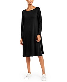 Long-Sleeve Shift Dress, Regular & Petite