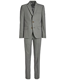 Big Boys Classic-Fit Stretch Black/White Birdseye Suit Separates