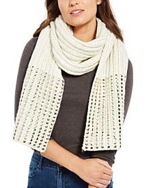 Flat-Stud Metallic Rib-Knit Scarf