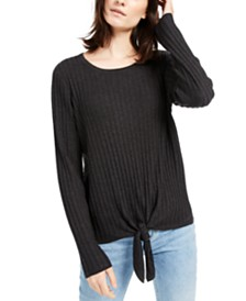 I.N.C. Ribbed Knotted Sweater, Created for Macy's