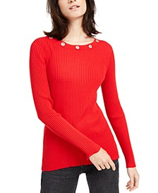 INC Embellished Grommet Top, Created for Macy's