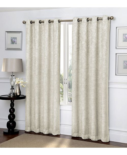 Regal Home Ironwork Scroll Blackout Grommet Curtain