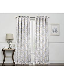 """Laila Print 100% Blackout Grommet Curtain, 84"""" x 50"""""""