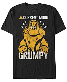 Disney Men's Snow White Currently Grumpy Short Sleeve T-Shirt