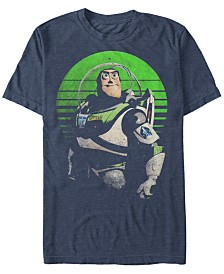 Disney Pixar Men's Toy Story Buzz Sight on Stars Short Sleeve T-Shirt