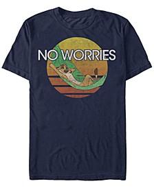 Disney Men's The Timon Chillin' No Worries Short Sleeve T-Shirt