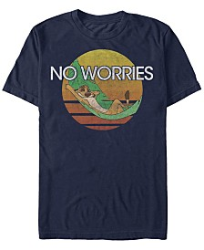 Disney Men's The Lion King Timon Chillin' No Worries Short Sleeve T-Shirt