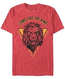 Disney Men's The Live Action Scar Geometric Triangle Short Sleeve T-Shirt