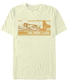 Disney Men's The Lion King Live Action Tonal Pride Lands Poster Short Sleeve T-Shirt